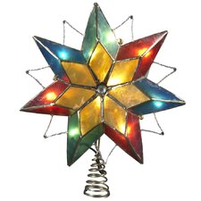 Capiz 10 Light 7 Point Star Tree Topper