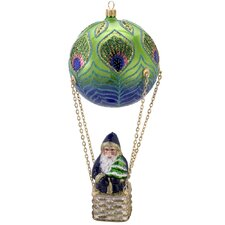 David Strand Glass Peacock Santa High Rise Ornament