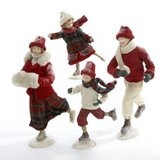 4 Piece Traditional Family Table Piece Figurine