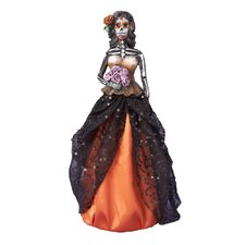 Halloween Skull Lady Decoration