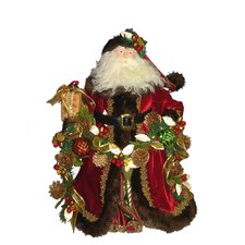 Fabric Decorated Santa Table Piece