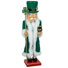 Wooden Painted Irish Nutcracker Table Piece