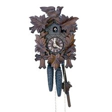 "8.5"" Traditional Cuckoo Clock with Wooden Dial"