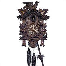 "12"" Traditional Cuckoo Clock with Hand Painted Flowers"