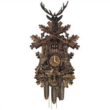 "30"" Traditional 8-Day Movement Cuckoo Clock with Deer"