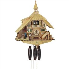 "22"" Light Chalet 8-Day Movement Cuckoo Clock with Bell Tower"