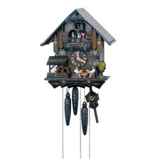 "12"" Cuckoo Clock with 2 Beer Drinkers and a Water Wheel"