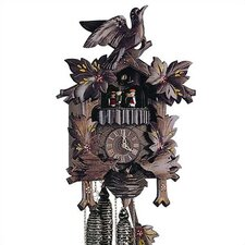 "13"" Cuckoo Clock with Moving Birds and Hand-Painted Flowers"