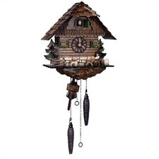"11.5"" Quartz Cuckoo Clock with Beer Drinker"