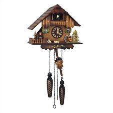 "9"" Cuckoo Quartz Clock with Dancing Figurines"