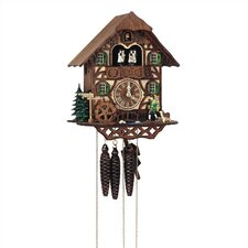 "12"" Cuckoo Clock with Clock Peddler and Dancing Figurines"