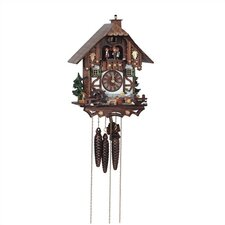 "13"" Cuckoo Clock with Tudor Style House and Dancing Figurines"