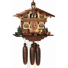 "13"" Musical Chalet Cuckoo Clock with Beer Drinkers"
