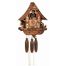 "17"" Chalet Cuckoo Clock with Children on Moving Teeter-Totter"