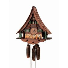 "18"" Chalet Cuckoo Clock with Moving Beer Drinkers and Dancers"