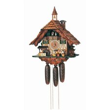 "19"" Black Forest Chalet Cuckoo Clock with Four Beer Drinkers"