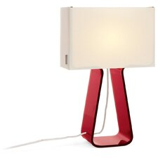 "Tube Top 14"" H Table Lamp with Rectangle Shade"