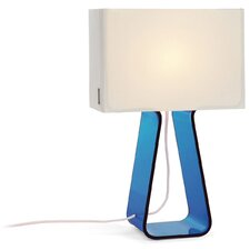 "Tube Top 14"" H Table Lamp with Rectangular Shade"