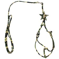 Camo Star Step-in Dog Harness