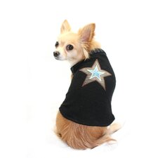 Star Dog Sweater Vest in Black
