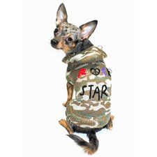 Rock Star Dog Hoodie in Camo