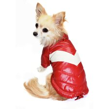 <strong>Hip Doggie</strong> Classic Dog V Coat in Red