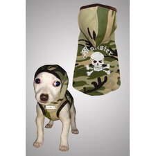 <strong>Hip Doggie</strong> Camo Monster Dog Hoodie in Green