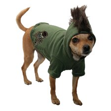 Skull Mohawk Big Dog Hoodie in Camo