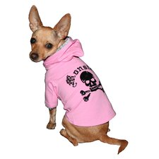 Monster Dog Hoodie in Pink