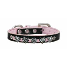 Diamond Heart Dog Collar in Pink