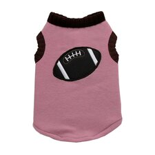 Football Dog Sweater Vest in Pink