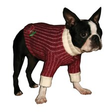 <strong>Hip Doggie</strong> Skull Cherry Dog Turtleneck