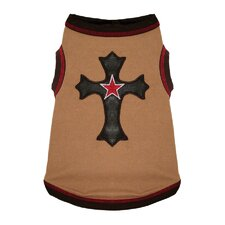 Cross Dog Tank in Tan