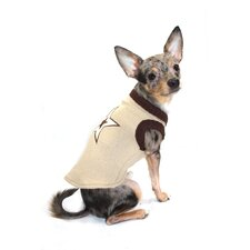 Star Dog Sweater Vest in Tan