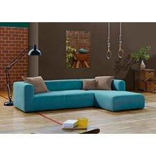 2,5-er Sofa rechts Cube mit Longchair links