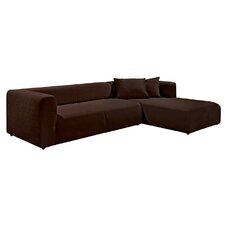 2,5er-Sofa links Cube mit Longchair rechts