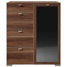 Hochkommode Gallery Plus mit 4 Schubladen und Tür