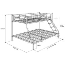 NexusTriple Sleeper Metal Bunk Bed