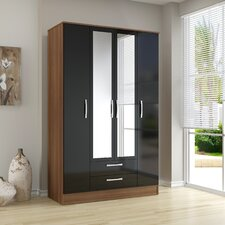 Lynx 4 Door 2 Drawer Wardrobe with Mirror