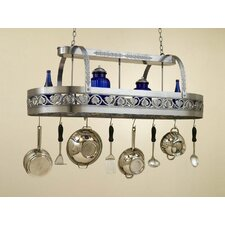 <strong>Hi-Lite</strong> Leaf Rounded Hanging Pot Rack with 2 Lights