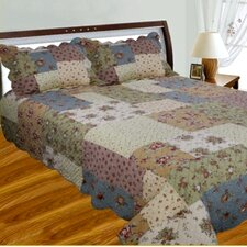 <strong>J&J Bedding</strong> Patchwork Square Quilt Collection