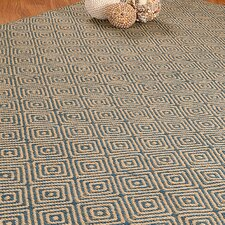 Jute Cream / Blue Recife Area Rug