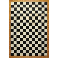 Cow Hide Patchwork Checkered Bergama Rug