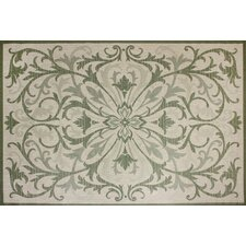 Beatrice Green & Beige Indoor/Outdoor Rug