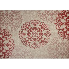 Macie Red & Beige Indoor/Outdoor Rug