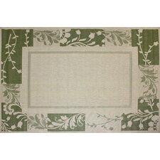 Paige Green & Beige Indoor/Outdoor Rug
