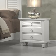 Winchester 3 Drawer Nightstand