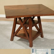 Oberlin Round to Square Pub Table in Medium Brown