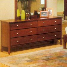 <strong>Alpine Furniture</strong> Costa 6 Drawer Dresser