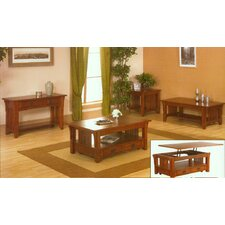 <strong>Alpine Furniture</strong> Mission Style Coffee Table Set